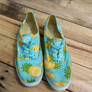 Keds Canvas Lace Up Shoes Pineapple